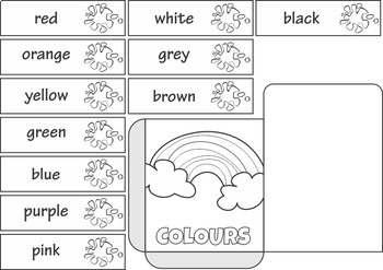 Learning Colors Sight Word Interactive Notebook Pocket $1 Deal
