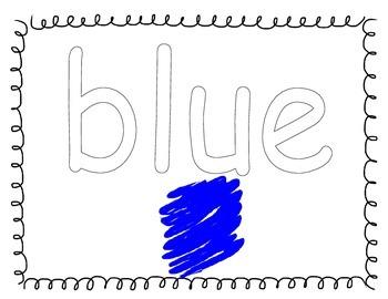 Color Sight Word Mats