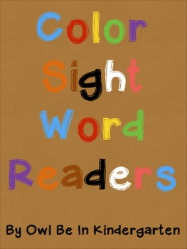 Sight Word Readers: Color Words