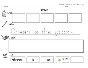 Color Sight Word Sentences