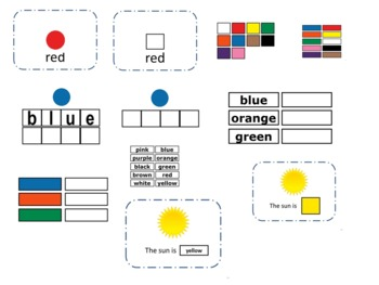 Color Sight Words (116 pages) Special Needs; Autism: Pre-K; Kindergarten