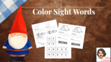 Color Sight Words (NO PREP NECESSARY)