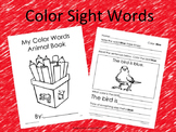 Color Sight Words Worksheets