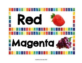 Fruit Color Signs