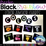 Color Signs - Black and Rainbow Decor