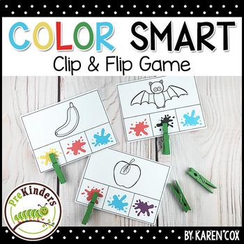 Color Smart Clip Card Game : Pre-K, Preschool, Kindergarten