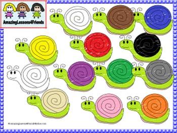 Color Snails Clipart