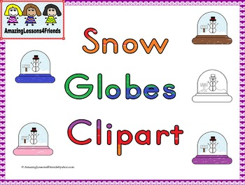 Color Snow Globes Clipart