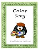 Color Song- ESL