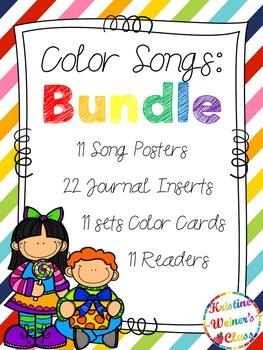 Color Songs Mini-Units {Bundled}