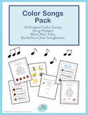Color Songs Pack for Preschool, PreK and Homeschool