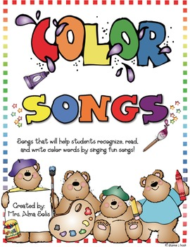 Color Word Songs (Poems & Pocket Chart Cards)