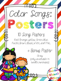 Color Songs Poster Set