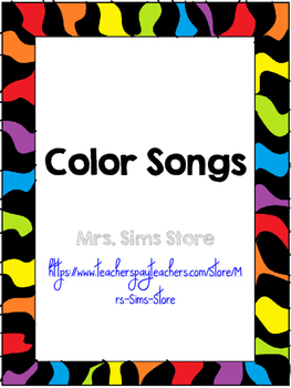 Color Songs Posters