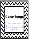 Color Songs Posters - Chevron