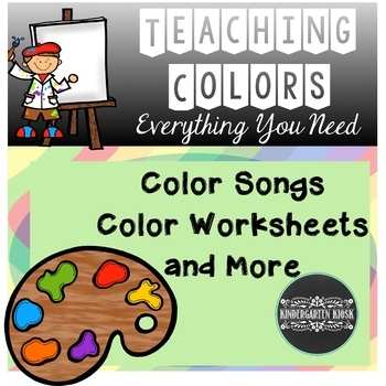 Color Songs and Worksheets