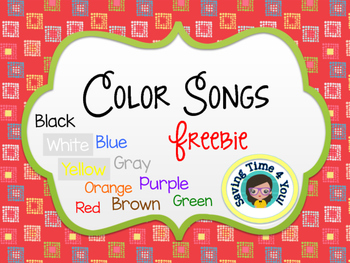 Color Songs for Kindergarten