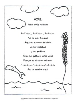 Color Songs in Spanish!