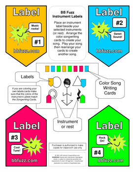 Color Songwriting Cards