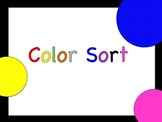 Color Sort-Photographic images to sort! Literacy center idea!