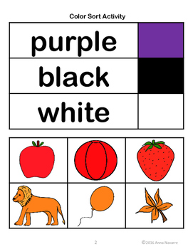 Color Sort Activity