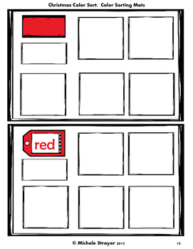 Christmas Color and Vocabulary Sort