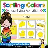 Color Sorting Mats (US & Australian Spelling)