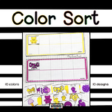 Color Sort for Autism, Early Childhood, Special Education Back to School