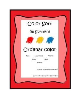 Color Sort in Spanish-Ordenar Color