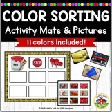 Color Sorting Activity Mats and Pictures