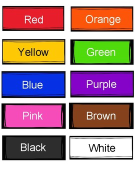 Color Sorting Activity. Colors Review.