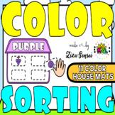 Color Sorting Activity House Mats Motor Skills Pack