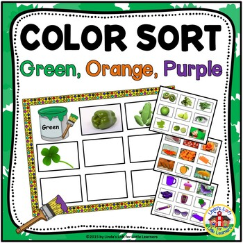 Sorting by Color: Green, Orange, and Purple