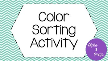 Color Sorting Activity for Life Skills and Autism Classroom