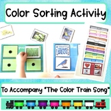 Color Sorting Activity: to use with the Color Train Song by Dr. Jean