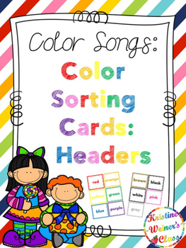 Color Sorting Cards: Headers