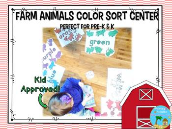 Color Sorting Center: Farm Animals