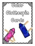 Color Sorting Clothespin Activity