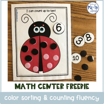 Color Sorting, Counting and Number Math Centers/ Independent Work