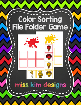 Color Sorting Folder Game for Early Childhood Special Education