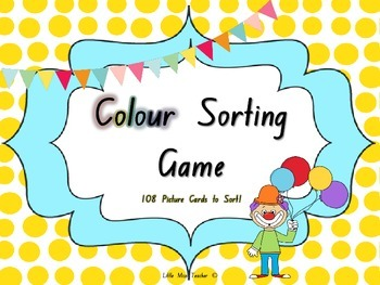 Color Sorting Game - 114 Picture Cards!