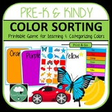 Color Sorting Game - PreK & Kindy with Shapes, Numbers and Colors to Sort