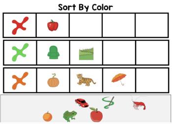Color Sorting Interactive Digital Task Cards (Boom! Deck)