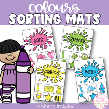 Color Sorting Mats FREEBIE