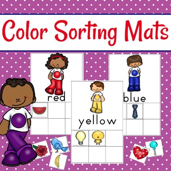 Color Sorting Mats and Color Cards