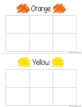 Color Sorting Mats and Worksheets - FREEBIE