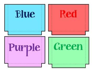 Color Sorting Pockets / Lapbook / Center