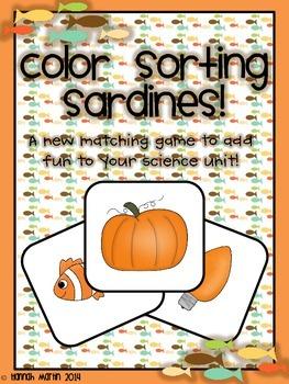Color Sorting Sardines! {FREEBIE!}