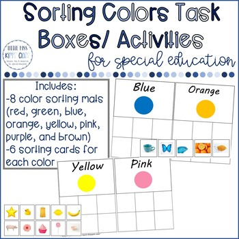 Color Sorting Task Box/ Independent Work Activity #tptmarchmadness