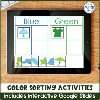 Color Sorting Task Box/ Independent Work Activity / Center